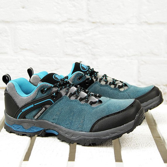 Buty trekkingowe z membraną niebieskie Hasby