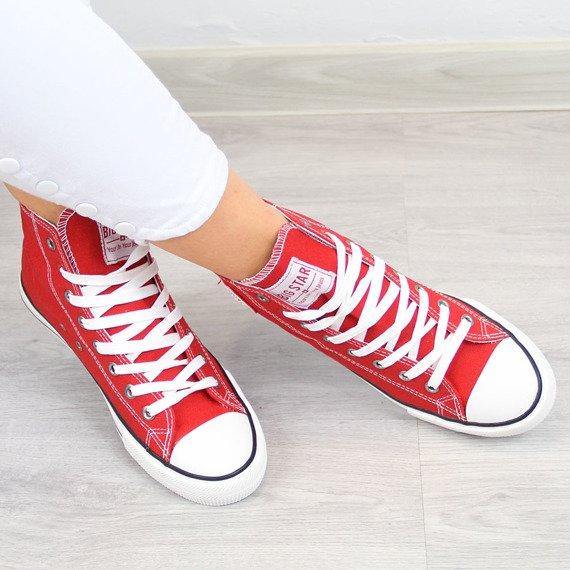 Czerwone trampki tenisówki wysokie Big Star T274024