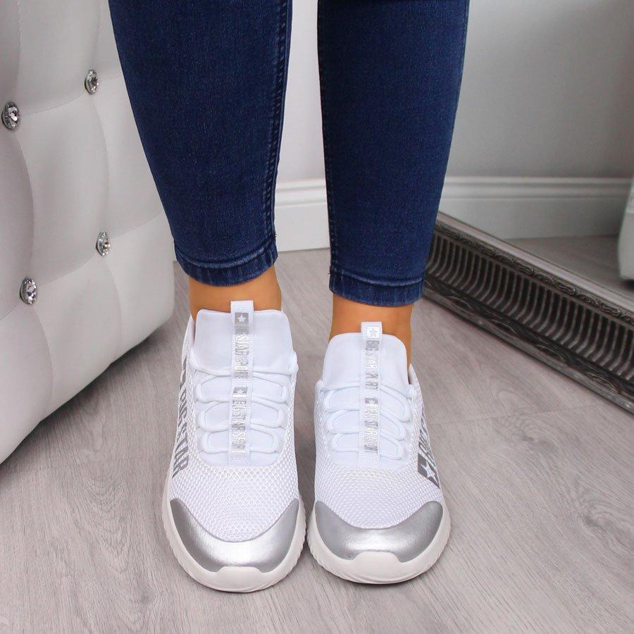 Buty sportowe damskie białe Big Star FF274A410