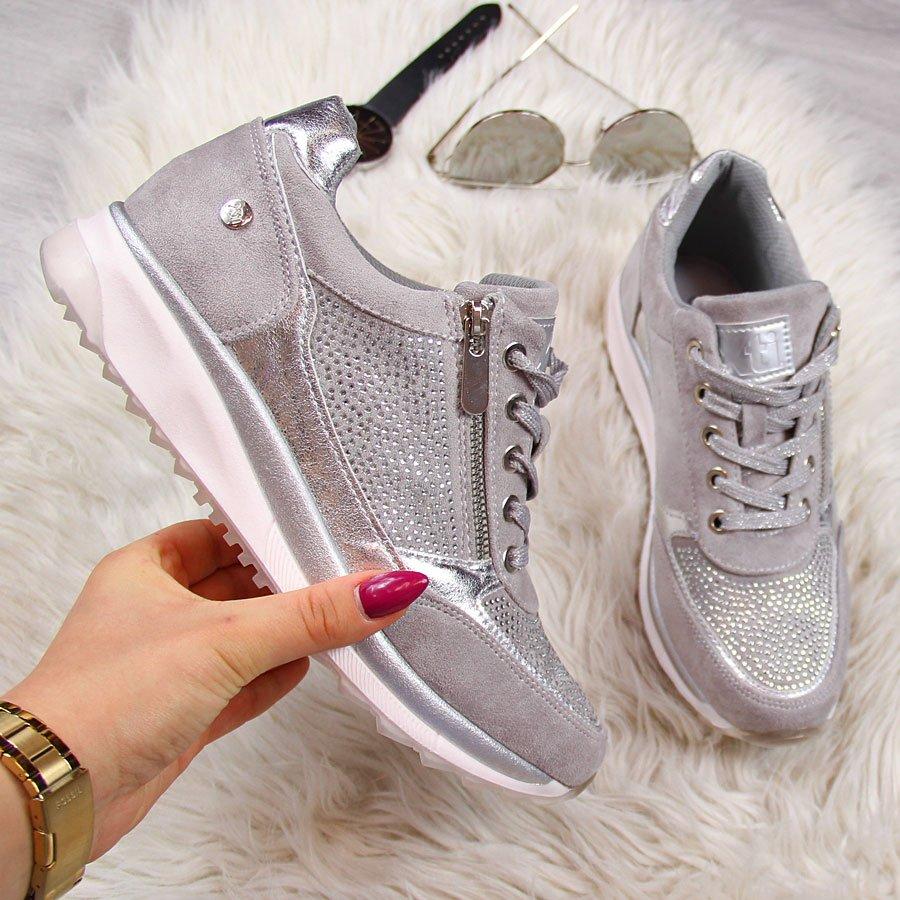 c9f69a7d Sneakersy z cekinami damskie szare Xti 23860 za - ButyRaj.pl