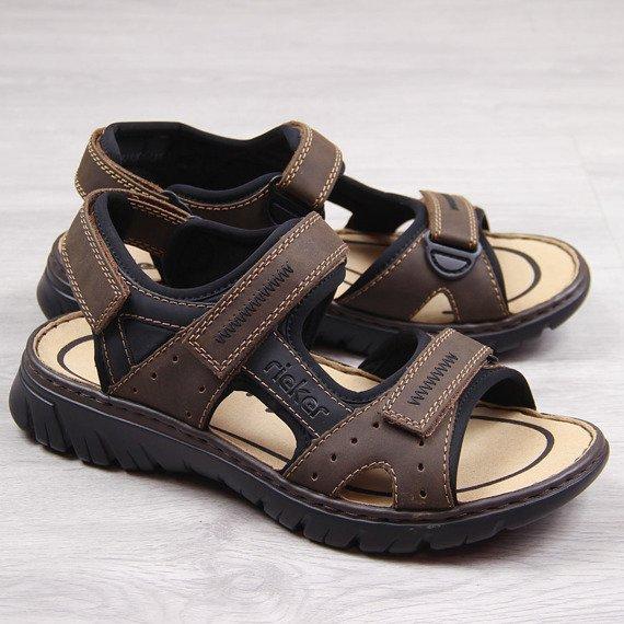 Brązowe sandały męskie komfortowe Rieker 26757-25