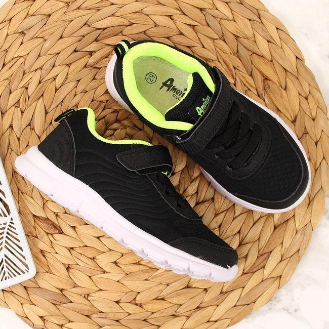 Buty sportowe chłopięce czarne American Club