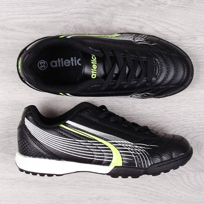 Buty sportowe chłopięce turfy czarne Atletico