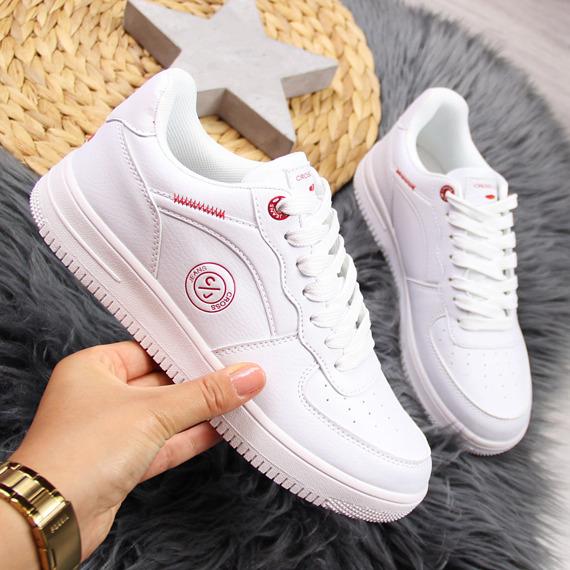 Buty sportowe damskie białe Cross Jeans