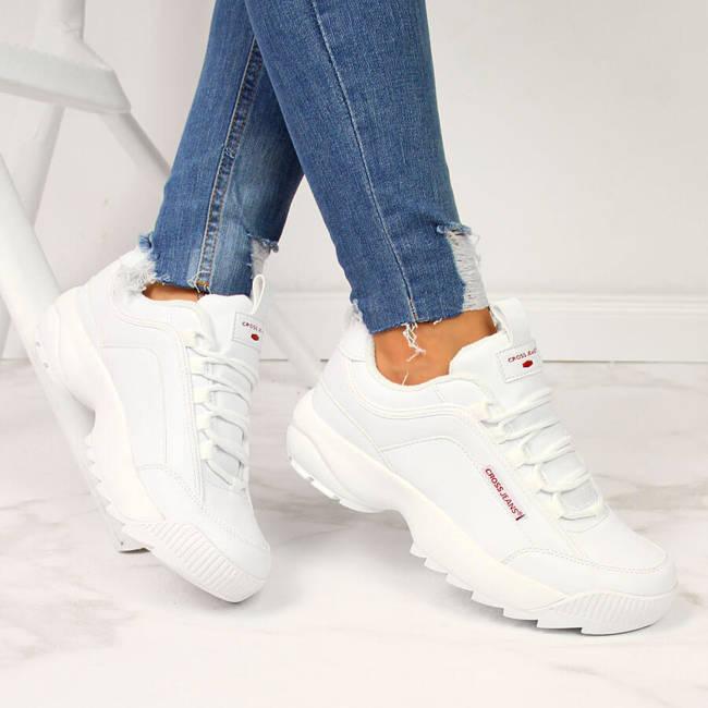 Buty sportowe damskie białe Cross Jeans EE2R4133C