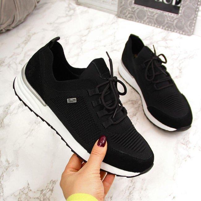 Buty sportowe damskie czarne Rieker N8010