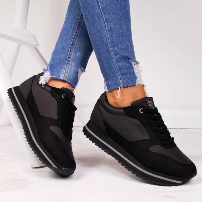 Buty sportowe damskie na platformie czarne Big Star II274217