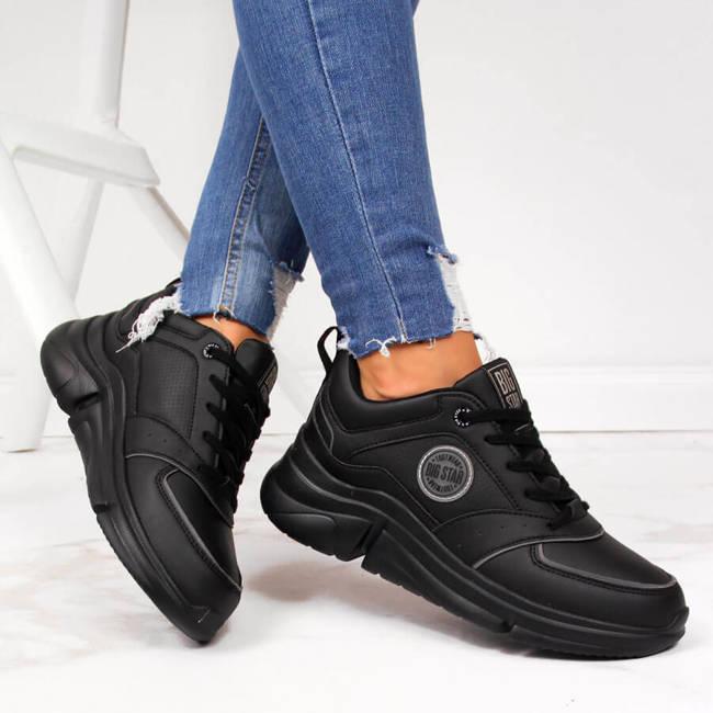 Buty sportowe damskie na platformie czarne Big Star II274313