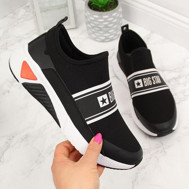 Buty sportowe damskie slip on czarne Big Star HH274538