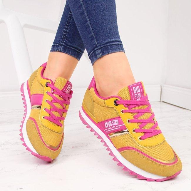 Buty sportowe damskie żółte Big Star HH274273