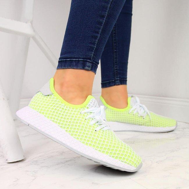 Buty sportowe do biegania neonowe zielone American Club