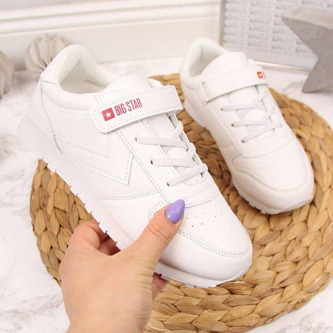 Buty sportowe dziecięce na rzep białe Big Star GG374057