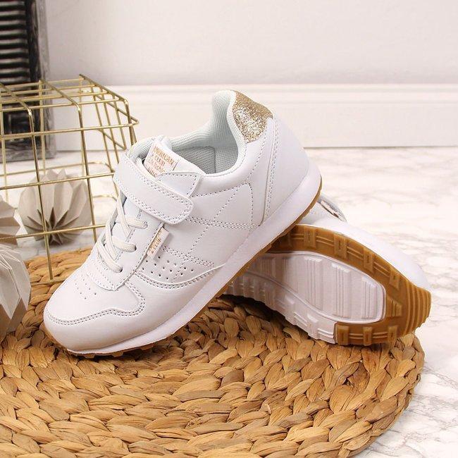 Buty sportowe dziewczęce na rzep białe American Club