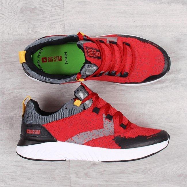 Buty sportowe męskie czerwone Big Star HH174235