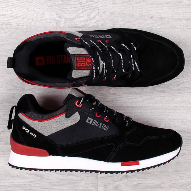 Buty sportowe męskie skórzane czarne Big Star II174191