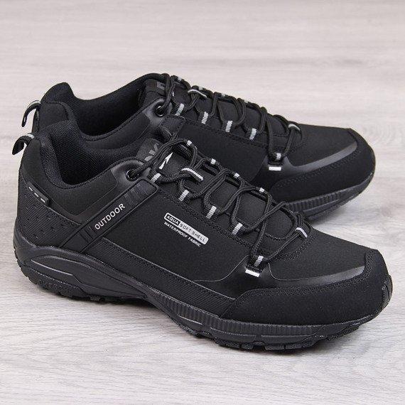 Buty sportowe męskie trekkingowe wodoodporne czarne DK