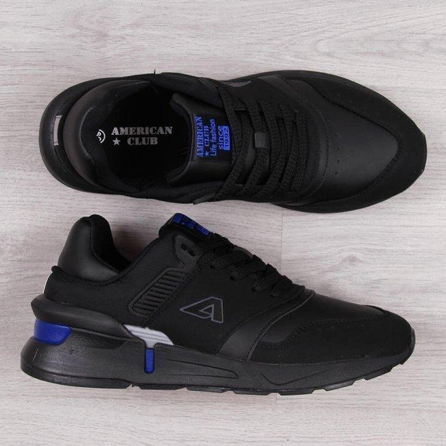 Buty sportowe młodzieżowe czarne American Club