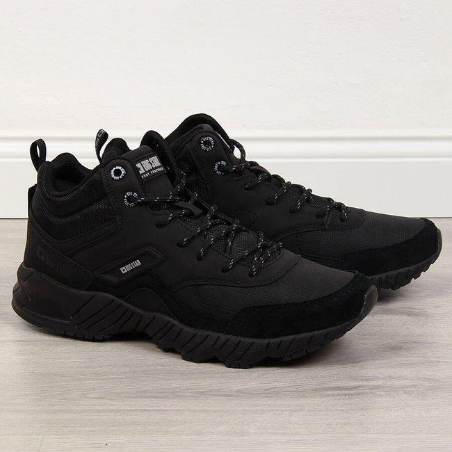 Buty sportowe skórzane męskie czarne Big Star GG174409