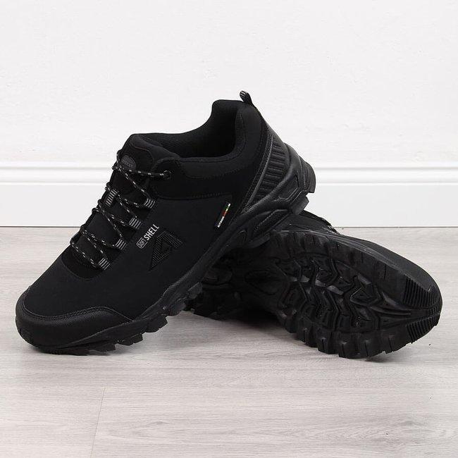 Buty sportowe trekkingowe wodoodporne czarne American Club