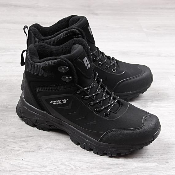Buty trekkingowe wodoodporne czarne McBraun