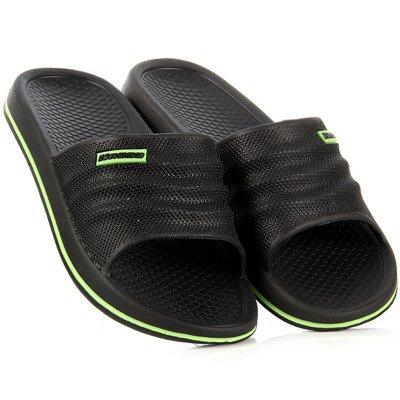 Czarne klapki sportowe basenowe Hasby