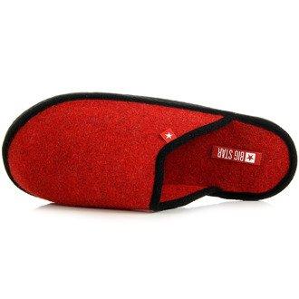 Czerwone laczki damskie domowe lekkie Big Star D267805