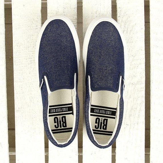 Jeansowe tenisówki damskie slip on Big Star W274730