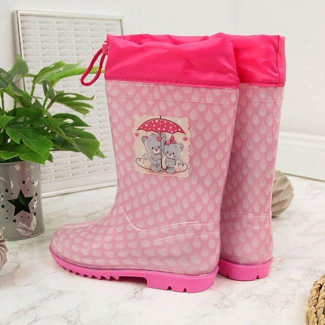 Kalosze dziewczęce różowe American Club