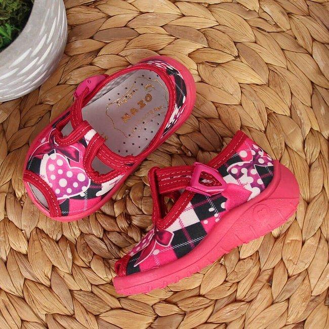 Kapcie dziewczęce sandałki domowe różowe Nazo