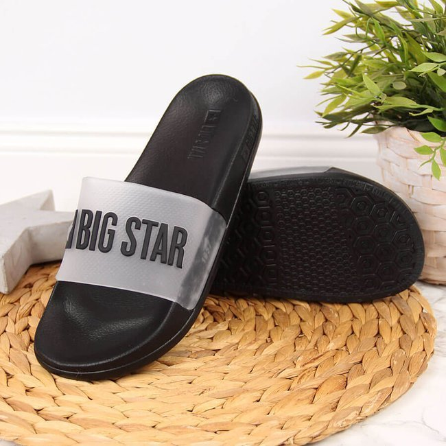 Klapki damskie basenowe czarne Big Star FF274A200