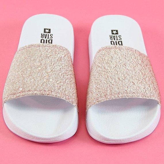 Klapki damskie plażowe różowe Big Star AA274A164