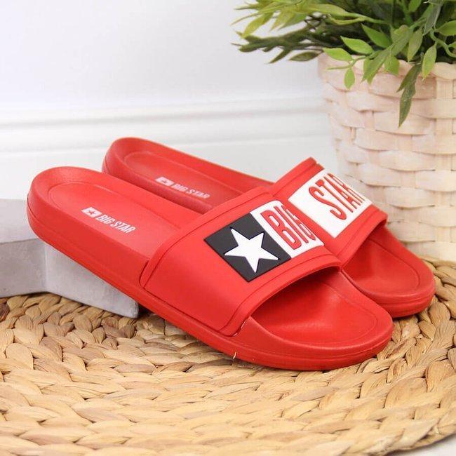 Klapki dziecięce basenowe czerwone Big Star DD374153