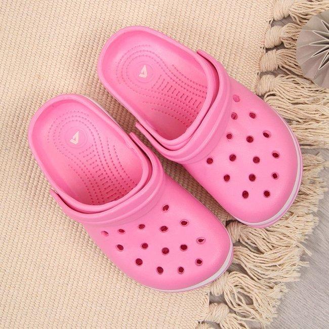 Klapki dziewczęce basenowe różowe American Club