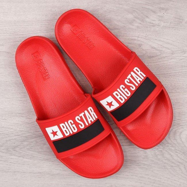 Klapki męskie gumowe plażowe czerwone Big Star GG174939