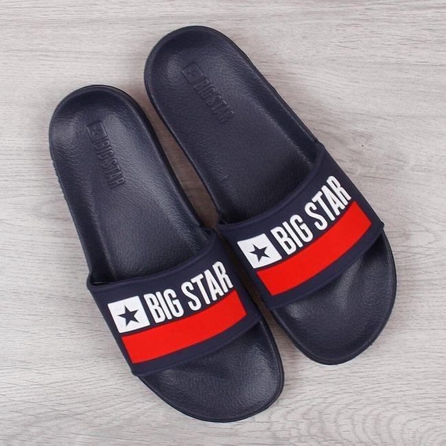 Klapki męskie gumowe plażowe granatowe Big Star GG174937