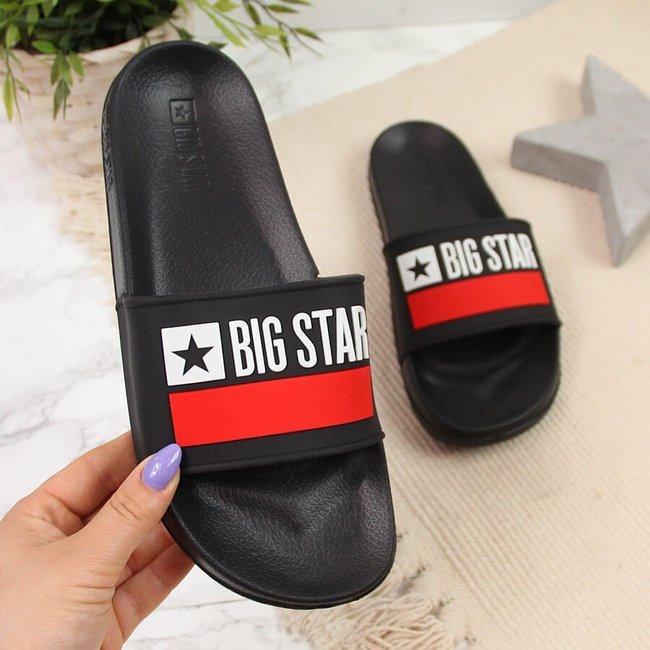 Klapki plażowe basenowe czarne Big Star GG274A045