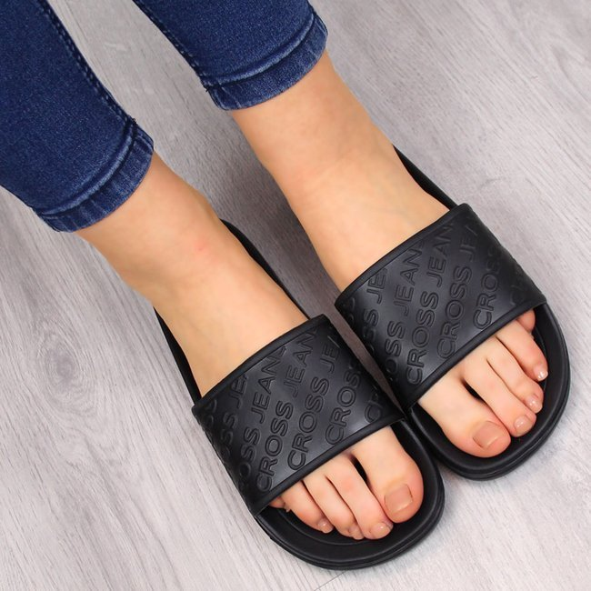 Klapki plażowe basenowe czarne Cross Jeans FF2R4153C