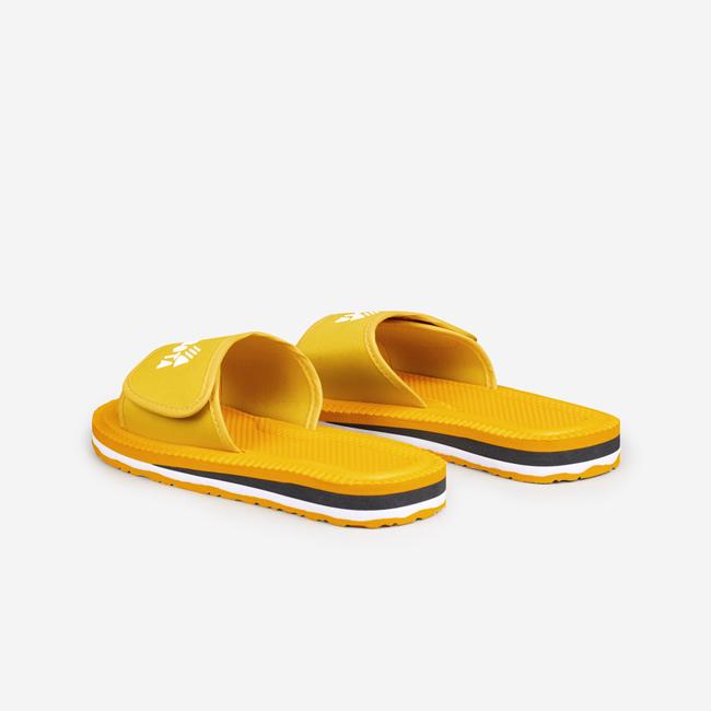 Klapki sportowe na rzep żółte Kubota