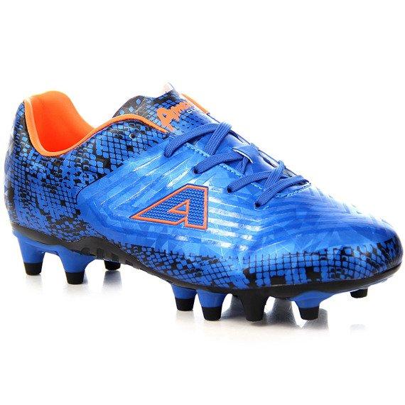 Niebieskie buty piłkarskie korki młodzieżowe American Club