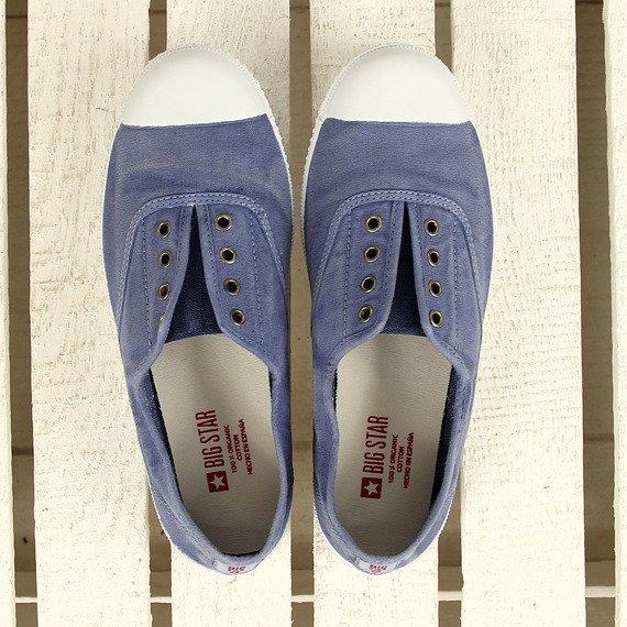 Niebieskie tenisówki slip on zapachowe Big Star Y273002