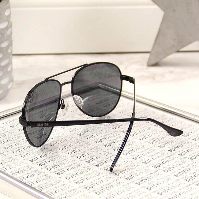 Okulary przeciwsłoneczne aviatory z etui Big Star Z74122