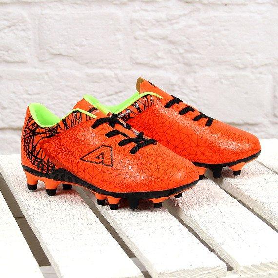 Pomarańczowe korki piłkarskie chłopięce neon American Club