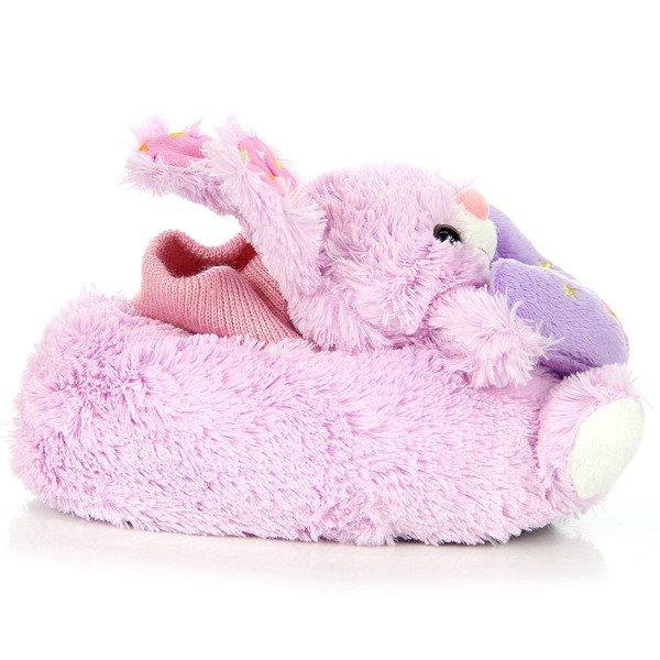 Różowe bambosze dziewczęce króliczki domowe American Club