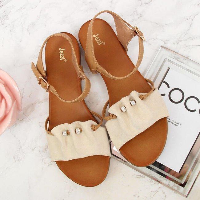 Sandały damskie beżowe Jezzi