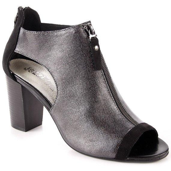 Sandały damskie na zamek czarne Jezzi