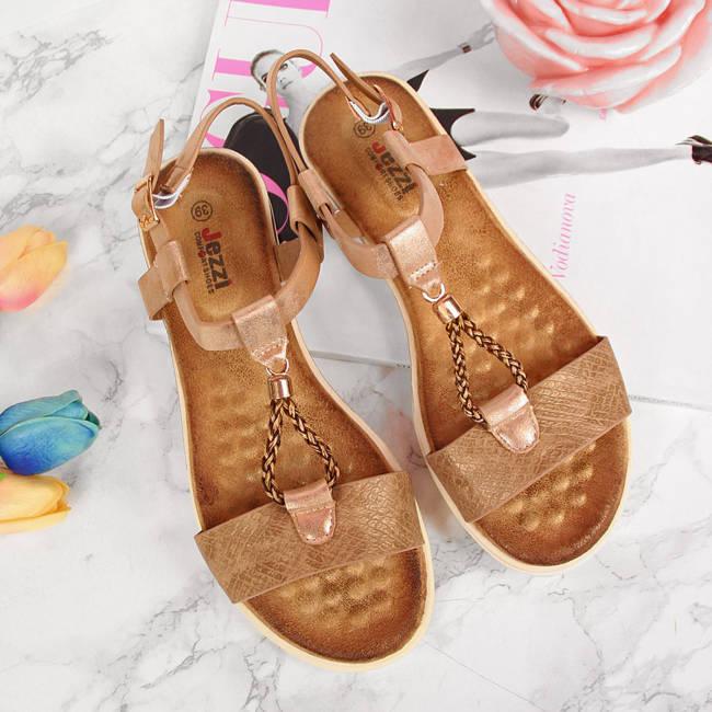 Sandały damskie złote Jezzi