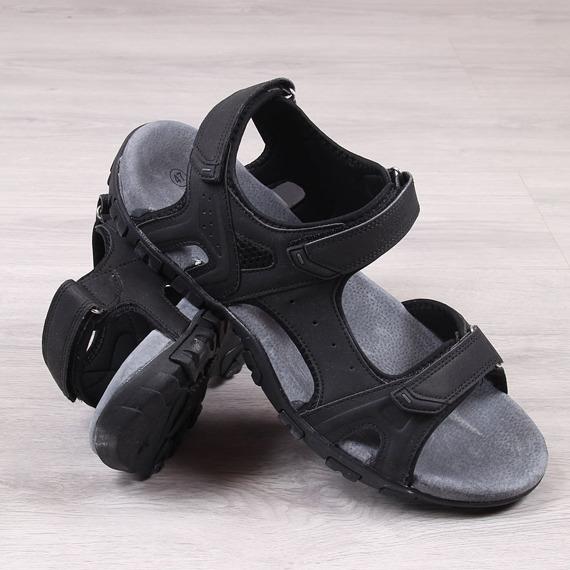 Sandały męskie na rzep czarne American Club