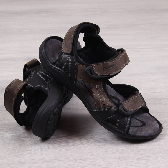 Sandały męskie skórzane brązowe Helios 853