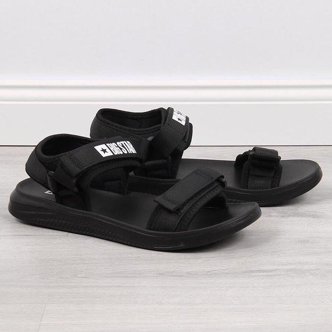 Sandały męskie sportowe na rzepy czarne Big Star HH174842