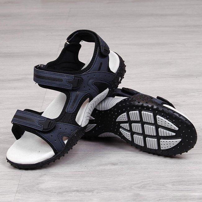 Sandały sportowe na rzepy granatowe American Club